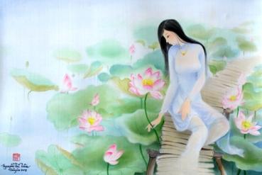 Tranh của họa sĩ Nguyễn Thị Tâm.
