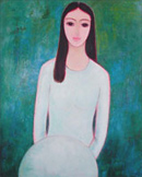 Thiếu nữ, tranh của Tôn Nữ Tâm Hảo.