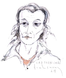 Cao Thoại Châu Đinh Cường vẽ theo bản vẽ ViVi