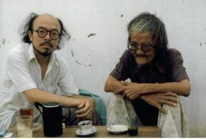 Nguyễn Chí Trung - Bùi Giáng   Gia Định 1989 ( ảnh DC )
