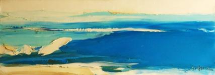 Dawn Size: 35 x 100 cm Tranh Suối Hoa