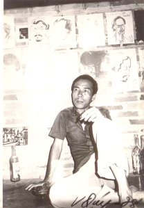 Đinh Cường nhà Trịnh Công Sơn 11 / 3 Nguyễn Trường Tộ, Huế  ảnh Vĩnh Quý, 1978