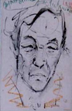 Định Giang, phác thảo Đinh Cường, Huế 1999