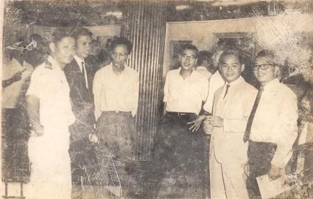 Hữu Phương - Định Giang - Hoài Khanh - Mai Trung Tĩnh - Kim Tuấn - Ninh Chữ   tại Triển lãm Đinh Cường, Alliance francaise - Saigon 1967