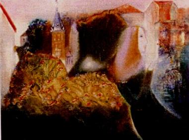 Đàlạt ngày cũ sơn dầu trên bố 30 x 40 in đinhcường 1971