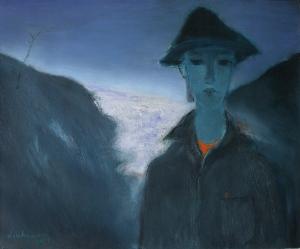 Mây trên đèo Hải Vân sơn dầu trên bố 24 x 30 in đinhcường 1988 ( coll. Đặng Tiến cho lại)