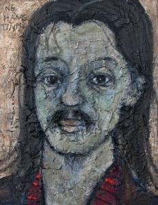 Chân dung Nguyễn Hàng Tình   sơn dầu trên canvas 8 x 12 in  đinhcường 9 - 2013