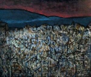 Phố núi ghi nhớ những lần qua San Fran. sơn dầu trên giấy plast 18 x 20 in  đinhcường 2013