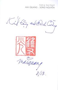 Chữ tác giả ký tặng