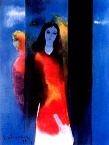 Mây mùa thu  sơn dầu trên canvas 30 x 40 in đinhcường