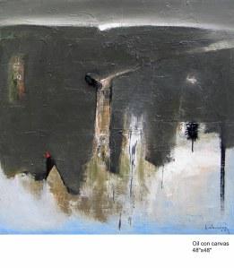 Rừng câm  sơn dầu trên canvas 48 x 48 in  đinhcường