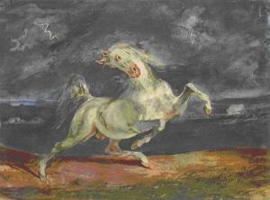 Delacroix - Ngựa Trong Cơn Bão