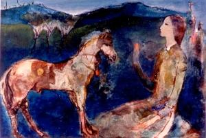 Ngựa, Tranh Đinh Cường