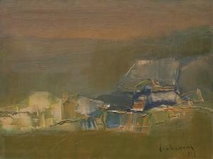 Để nhớ Lạc Lâm sơn dầu trên canvas 14 x 16 in đinh cường (coll. Dr. Phan Gia Quang, Texas)