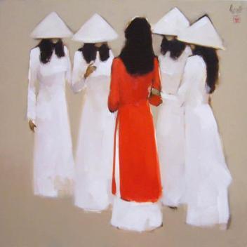 Nữ sinh Tranh Nguyễn Thanh Bình