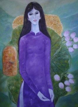 Tranh thiếu nữ B'Lao (nguồn: Internet)