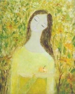 Thiếu nữ  tranh sơn dầu của họa sĩ Tôn Nữ Tâm Hảo