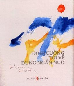 Bìa tập tranh/thơ TÔI VỀ ĐỨNG NGẨN NGƠ do Quán Văn xuất bản