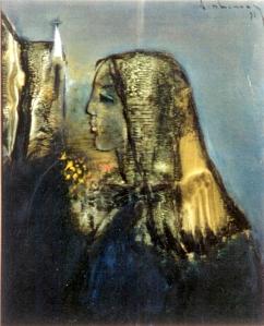 Chiều Lạc Lâm 1 sơn dầu trên canvas 16 x 20 in đinhcường