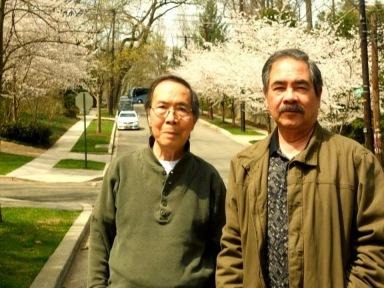 Đinh Cường, Nguyễn Trọng Khôi ngày đẹp trời tại Georgetown April 11, 2014
