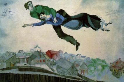 Trên những mái nhà thành phố Marc Chagall