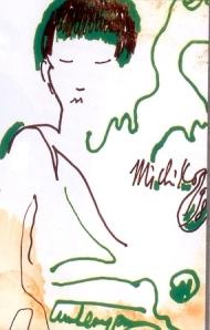 Chân dung Michiko     Bút dạ- TCS