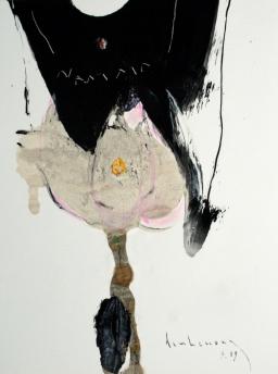Sen và Trăng sơn dầu trên giấy plast. đinhcường