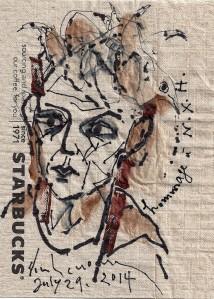 Những cánh chim lệ chảy những nét vẽ trên napkin đinhcường July 29, 2014