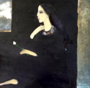 Mây ngoài cửa sổ sơn dầu trên canvas 30 x 30 in đinhcường 6 - 2014