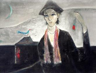 Nhớ thời Dran sơn dầu trên canvas 24 x 30 in đinhcường