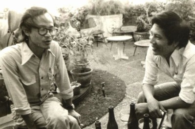 Trịnh Công Sơn - Nguyễn Xuân Hoàng Sài Gòn 1970 (ảnh tư liệu ĐTC)