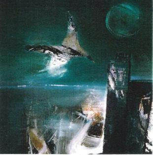 Chim biển sơn dầu trên canvas đinhcường