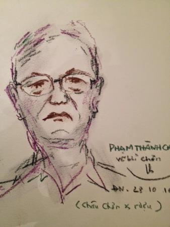 Phạm Thanh Châu vẽ bởi Nguyễn Quang Chơn Đà Nẵng 28.10.2014