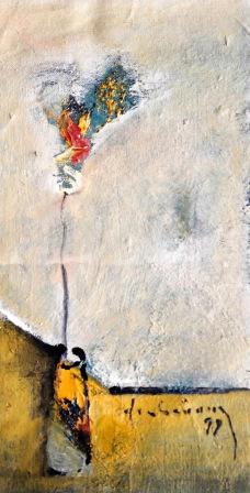 Tĩnh vật hoa sơn dầu trên canvas đinhcường