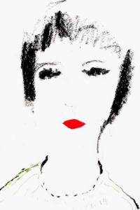 môi lá đỏ  (lượm chiếc lá nhỏ  dán thành môi) đinhcường