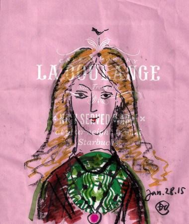 Cybèle vẽ trên giấy gói bánh đinhcường