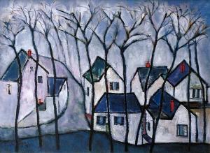 Xóm nhà Annandale sơn dầu trên canvas 24 x 30 in đinhcường