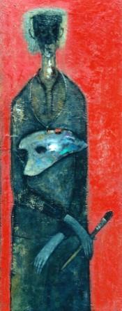 Autoportrait oil on canvas 20 x 60 in đinhcường ( Coll. Mr. Hoàng Minh Trung - Sài Gòn)