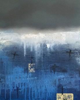 Những nấm mồ của biển sơn dầu trên canvas 56 x 78 cm đinhchinh 3-2015