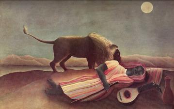 The Sleeping Gypsy Henri Rousseau - Museum of Modern Art, New York