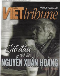 Bìa Việt Tribune Giỗ đầu nhà văn Nguyễn Xuân Hoàng Thứ sáu, 11 tháng 9-2015