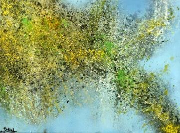 Mùa thu Đinh Trường Chinh sơn dầu trên canvas 60 x 80 cm October 2015
